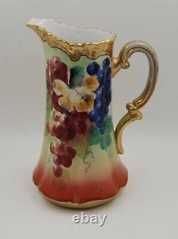 Vase Antique De Pitcher De Tankard Peint À La Main De Limoges