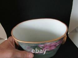 Vase Antique De Pot De Cache Peint À La Main De Limoges