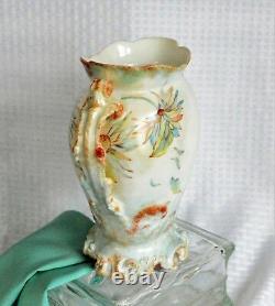 Vase Antique En Porcelaine Peint À La Main Jean Pouyat Limoges
