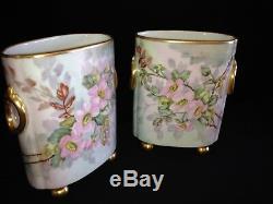Vase Cache Pot De Limoges Vases En Porcelaine Française Peints À La Main