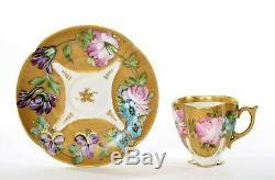 Vieux France Porcelaine De Limoges Porcelaine Peinte À La Main Thé Demitasse Cup & Saucer