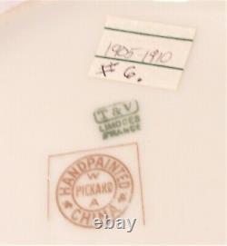 Vintage 1905 Peint À La Main Pickard Porcelain Pitcher J. Fuchs Signé T & V Limoges