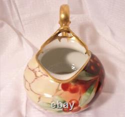 Vintage 1905 Peint À La Main W. Pickard Vase En Porcelaine Signé J. Goess T&v Limoges
