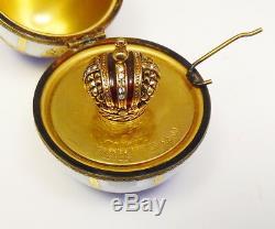 Vintage Fabergé Lmt Ed Limoges Peinte À La Main En Porcelaine Oeuf Livraison Gratuite