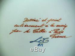 Vintage Le Tallec Paris Decores Porcelaine De Limoges Ice Cream Seau / Cooler