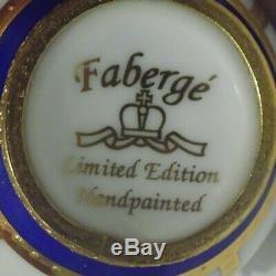 Vintage Limited Edition Fabergé Limoges Porcelaine Peinte À La Main Egg No 10043